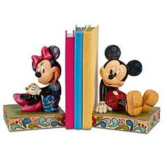 Minnie Mouse and Mickey Mouse Bookends by Jim Shore