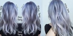 Pastel Silver Lavender Hair! Video Tutorial by Guy Tang!