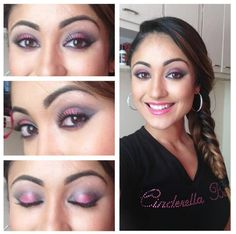 Ready for the Bridal Show! Pink and black eye shadow.