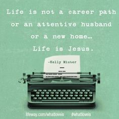 """Life is not a career path or an attentive husband or a new home . Life is Jesus. True Faith, Faith In Love, What Is Love Bible, Christian Life, Christian Quotes, Uplifting Quotes, Inspirational Quotes, Small Group Bible Studies, Jesus Is Life"