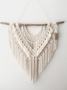Large Macrame Wall Hanging Neat & Sweet is exactly that, the flowing cotton . - Large Macrame Wall Hanging Neat & Sweet is exactly that, the flowing cotton rope strands sit be - Macrame Wall Hanging Patterns, Large Macrame Wall Hanging, Macrame Patterns, Hanging Tapestry, Bohemian Tapestry, Macrame Wall Hangings, Macrame Design, Macrame Art, Macrame Projects
