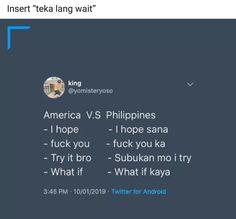 Memes Pinoy, Filipino Memes, Filipino Funny, Tagalog Quotes, Bisaya Quotes, Tweet Quotes, Qoutes, Haha Funny, Funny Stuff