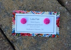 Pink Floral Fabric Earrings by JamieGregoryHandmade on Etsy