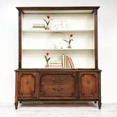 Java and Antique White Hutch | General Finishes Design Center