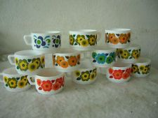 LOT DE 12 TASSES café VINTAGE ARCOPAL FRANCE 1970