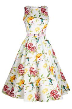 Humming Birds Hepburn Dress
