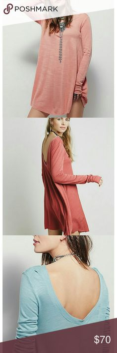 ⭐Flash Sale⭐Free People Swing Dress Free People Swing Dress  Long sleeved  By Free People Beach EUC Like New No flaws The pics above are for style, the one I'm selling is white like 1st & last pics Free People Dresses Long Sleeve