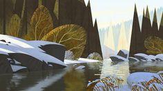 Yosemite, Marcin Jakubowski on ArtStation at https://www.artstation.com/artwork/om5B4