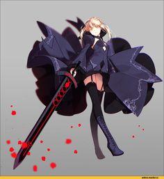 Anime,Аниме,Saber Alter,Fate (series),Fate (srs),hakusai (tiahszld)