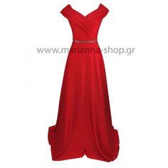 Φόρεμα κοκκινο σατεν για γαμο Prom Dresses, Formal Dresses, Red, Shopping, Fashion, Dresses For Formal, Moda, Fashion Styles, Prom Gowns