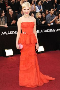 Michelle Williams in Louis Vuitton | Academy Awards 2012 | 100 Best Red Carpet Dresses of All Time - Most Iconic Red Carpet Looks - Harper's BAZAAR