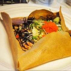 California roll crepe @ Vanilla crepe cafe