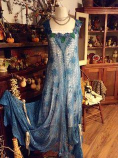 Luv Lucy crochet Mermaid Dress Midnight by LuvLucyArtToWear, $295.00