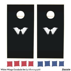 Add some friendly fun to the BBQs, tailgates, and outdoor activities with Cornhole cornhole sets from Zazzle. Design your own boards and choose from various colored bean bags to create the perfect cornhole set. Cornhole Set, Cornhole Boards, White Wings, Design Your Own, Create Your Own, Fun, Gifts, Gift Ideas, Elegant