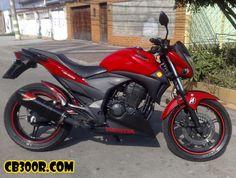Moto Vermelha com Spoiler Preto Cb 300, Honda, Motorcycle, Vehicles, Mary, Volvo Trucks, Conceptual Photography, Sport Cars, Posts