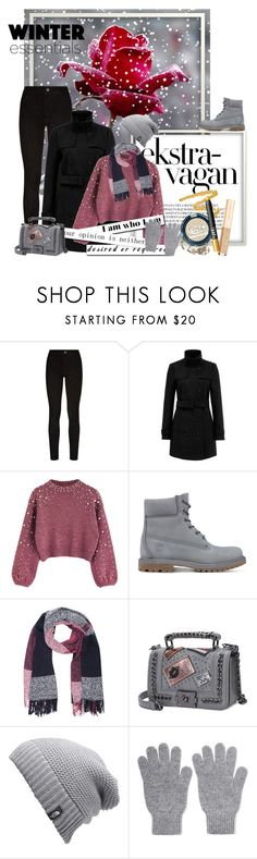 """Winter essentials"" by dicabria ❤ liked on Polyvore featuring Paige Denim, M&Co, The North Face and Johnstons of Elgin"