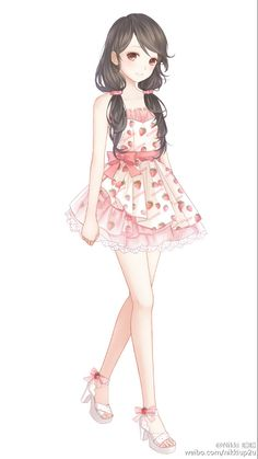 Anime girl | strawberry :D