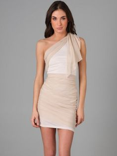(FITS0243504 )2013 Style Sheath / Column One Shoulder Sashes / Ribbons  Sleeveless Short / Mini  Chiffon Cocktail Dress / Homecoming Dress