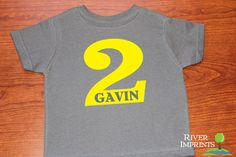 PERSONALIZED BIRTHDAY toddler boy or girl tshirt by RiverImprints, $10.00