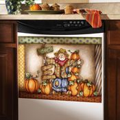 Fall Harvest Pumpkin Patch Dishwasher Cover Magnet