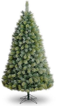 7ft Green Christmas Tree Frosted Breckenridge Artificial