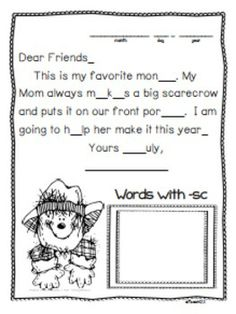 Kindergarten and 1st Grade Morning Messages with an October theme are a great way to teach spelling and phonics! Topics: pumpkin patch, hayride, haunted house, witch, leaves, costume, mummy, bat, cat, spider, Columbus, ship, moon, Halloween, Columbus, scarecrow, pumpkins, ghost, spider, candy corn, bats Skill include: *Beginning sounds *Middle sounds *Ending sounds *Punctuation marks *Blends *Rhyming words *Spelling *Letter format #phonics #morningmessage #spelling $