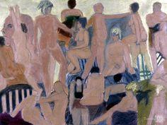 Party I by Roslyn Estates artist Sylvia Sherwin Goldberg.