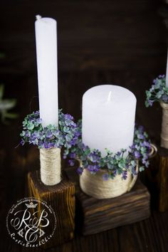 This item is unavailable Unity Ceremony, Wedding Unity Candles, Rustic Candles, Wedding Ceremony, Personalized Candles, Handmade Candles, Candle Arrangements, Christmas Candle, Candle Set