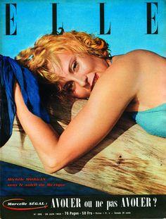 Elle  -  Michelle Morgan Fashion Magazine Cover, Magazine Covers, Morgan, Canada, Elle Magazine, France, Vanity Fair, Writer, 29 June