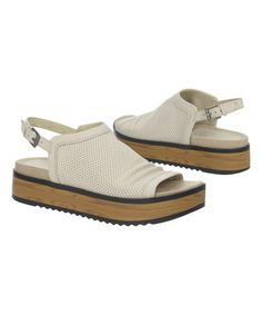 Light Taupe Uno Leather Sandal by Naya #zulily #zulilyfinds