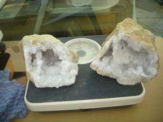 double geode de quartz,cristal de roche de 3kg