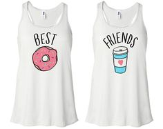 Beste Freunde-Donut und Kaffee Duo Racerback von TeesAndTankYouShop