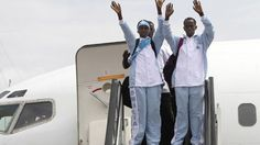 "The Somali Olympic team arrives in London ahead of the Olympics. ""I am very much excited. It's un-imaginable that I'm coming from a country destroyed by 21 years of conflict to compete with (players from) serene, peaceful and developed countries that have never seen war."" Zamzam will compete in the women's 400 metres and Mohamed Mohamed Hassan will take part in the men's 1,500 metres.    Arriving at Heathrow Airport Zamzam said that ""Somalia is alive"" and she is proud to represent her…"