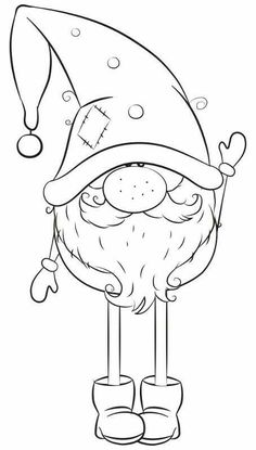 Christmas Gnome, Christmas Colors, Christmas Projects, Noel Christmas, Christmas Crafts, Christmas Decorations, Christmas Ornaments, Xmas Drawing, Christmas Drawing