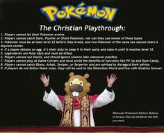Pokemon christian style