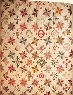 Lemoyne Star Wedding Quilt, Made by Penelope Carpenter Stanley. Collection of New England Quilt Museum. Old Quilts, Amish Quilts, Star Quilts, Antique Quilts, Vintage Textiles, Vintage Quilts, Medallion Quilt, Civil War Quilts, Sampler Quilts