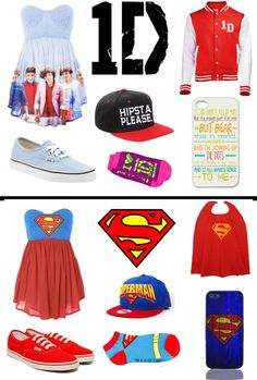"""one direction and superman fangirl"" by marzpoo ❤ liked on Polyvore"