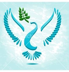 Dove with olive branch vector by vectorpen - Image #1648813 ...