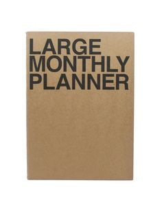 Got lots to do, plan, doodle and schedule? This planner has room for it all. Large Monthly Planner, $15.