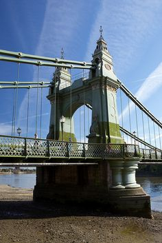 Hammersmith Bridge - Hammersmith, London, England;  opened in 1887;  photo by celie, via Flickr