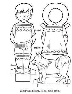 Eskimo Paper Dolls