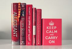 New post on the-girl-who-lived-to-read Red T, Red Books, Allegiant, Music Love, The Girl Who, Ruby Red, Keep Calm, Book Worms, Fangirl