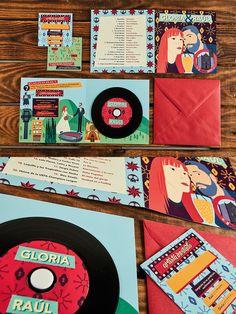 Para G&R hicimos una serie de ilustraciones explicando su historia y grabamos un CD de vinilo con sus canciones