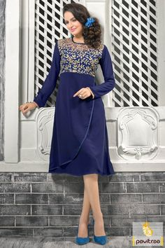 Grab the complements by wearing stylish cobalt blue color latest designer georgette kurti online with price. Get the wholesale manufacturer and supplier Viva n Diva latest designer stylish trendy kurtis online shopping India. #kurti, #kurtis, #partywearkurti, #tunics, #ladiestunics, #stylishkurti, #kurtionline, #buykurti, #onlinekurtishopping, #designerkurtis, #embroideredkurti More : http://www.pavitraa.in/store/stylish-kurtis/ Call / WhatsApp : +91-76982-34040  E-mail: info@pavitraa.in