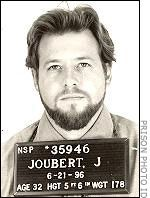 John Joubert in 1996 before his execution after spending 11 years on death row. He was known as the Nebraska Boy Snatcher.