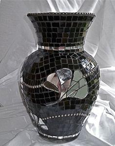 Ginko Leaf Mosaic Vase.