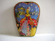 vintage Cinderella candy tin - Horner & Co. - England - fairy tale - trinket box - jewelry box - container - advertising - collectible