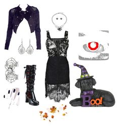 """""""HALLOWEEN PARTY"""" by bettyboopberry ❤ liked on Polyvore featuring Demonia, BERRICLE, Ayaka Nishi, WearAll and Boohoo"""