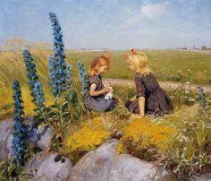 """""""La muñeca nueva"""". Hans Andersen Brendekilde (Dinamarca, 1857-1942)."""