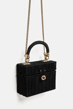 83a0d5a766e Image 7 of MINAUDIÈRE BAG WITH BRAIDED HANDLE from Zara Vintage Bags,  Vintage Handbags,